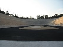 Ancient Olympic stadium, Athens, Greece. Panathinaikos is the first of the stadiums of antiquity. Panathinaikos — stadium, Athens, unique in the world, built Royalty Free Stock Photography