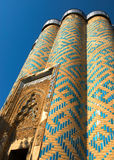 Ancient orient tower. In Azerbaijan. Fragment Stock Photography