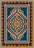 The ancient oriental design with a frame for carpe. Oriental design  for the carpet and  ornamental details for the frame Stock Photography
