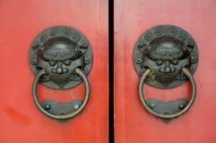 Ancient Oriental Door Knockers Royalty Free Stock Photo