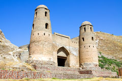 Ancient oriental fortress stock photography