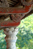 Ancient oriental woodwork. Stock Image