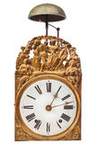 Ancient ornamental clock with bell Royalty Free Stock Images