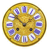Ancient ornamental golden clock face Stock Photography