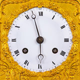 Ancient ornamental golden clock face Royalty Free Stock Photography
