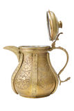 Ancient ornamental teapot, jug on white Stock Photo