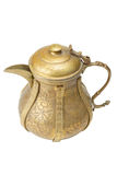 Ancient ornamental teapot, jug on white background Royalty Free Stock Images
