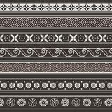 Set of borders, frames with ancient ornaments Vector. Set of ancient borders, frames, ornaments. Vector illustration. Seamless pattern Royalty Free Stock Photos