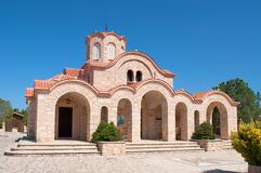 Ancient orthodox church close up in the sunny day. Cyprus Royalty Free Stock Photos