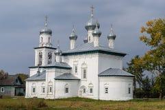 Ancient orthodox church in Kargopol Stock Photos