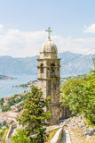 Ancient Orthodox church made of stone in the Byzantine style in Kotor Adriatic, Montenegro Royalty Free Stock Image