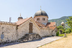 Ancient Orthodox church made of stone in the Byzantine style in Kotor Adriatic, Montenegro Royalty Free Stock Photos