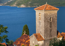 Ancient Orthodox Church in Perast town Stock Photography