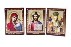 Ancient Orthodox icon. Ancient Orthodox icon on a white background Royalty Free Stock Photos