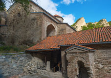 Ancient Orthodox monastery in the mountains. Stock Photos