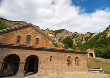 Ancient Orthodox monastery in the mountains. Stock Image