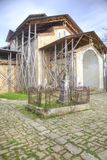 Abhazia. A temple of Dormition of most Holy our Lady is in a village Lykhny royalty free stock photography