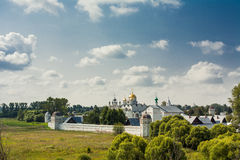 Ancient orthodox temple. Surrounded with beautiful flat nature Royalty Free Stock Images