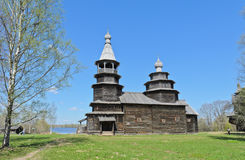Ancient orthodox wooden church Stock Photo