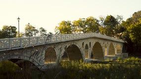 Ottoman Gorica bridge. Ancient ottoman Gorica bridge in berat Stock Photos