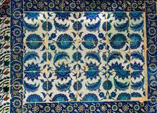 Ancient Ottoman time Handmade Turkish Tiles stock photos