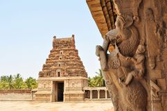 Ancient overgrown ruins of Hampi, Karnataka, India Stock Image