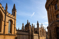 Ancient Oxford buildings Royalty Free Stock Photo