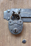 Ancient padlock Stock Photography