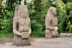 Ancient pagan idols Royalty Free Stock Photography