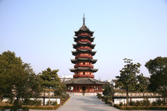 Ancient pagoda. Pagoda in Chinese traditional garden Royalty Free Stock Image