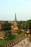 Ancient Pagoda. Elevated view of ancient ruins of a pagoda in Ayutthaya in Thailand Royalty Free Stock Image