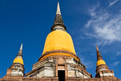 Ancient pagoda. Located in Ayutthaya province,Thailand Stock Image