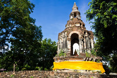 Ancient Pagoda. Old and Ancient Pagoda with Small Buddha Image inside Stock Images