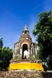 Ancient Pagoda. Old and Ancient Pagoda with Small Buddha Image inside Royalty Free Stock Photo