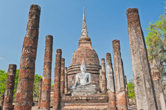 Ancient Pagoda And Buddha Statue.