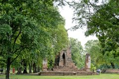 Ancient Pagoda in archaeological site at Ayutthaya Thailand. royalty free stock photos