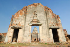 Ancient pagoda architecture Wat Pra Sri Ratana Mahatat in Lopbur Royalty Free Stock Image