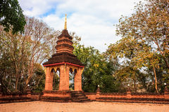 Ancient pagoda. The ancient pagoda around temple with trees Royalty Free Stock Photography