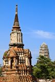 Ancient pagoda-Ayutthaya Thailand Royalty Free Stock Photos