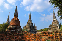 Ancient pagoda-Ayutthaya Thailand Stock Photography