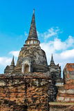 Ancient pagoda-Ayutthaya Thailand Royalty Free Stock Photo