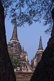 The ancient pagoda of Ayutthaya, Thailand Royalty Free Stock Photos