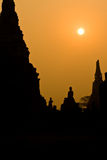 The ancient pagoda of Ayutthaya, Thailand Royalty Free Stock Images