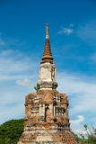 The ancient pagoda in Ayutthaya, Thailand Stock Image