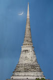Ancient pagoda with blue background Stock Photos