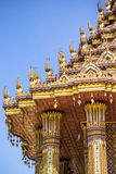 Ancient pagoda on blue sky in temple, Thailand Royalty Free Stock Images