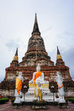 Ancient pagoda and buddha statue in Ayutthaya, Thailand Stock Photography