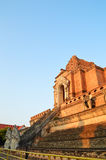 Ancient Pagoda build from brick at Wat Chedi Luang Royalty Free Stock Images