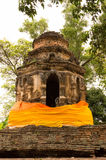 Ancient pagoda building. In Wat Ched Yot, Chiangmai, Thailand Royalty Free Stock Image