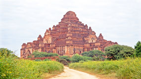 Ancient pagoda in burmese landscape in Bagan Royalty Free Stock Photography